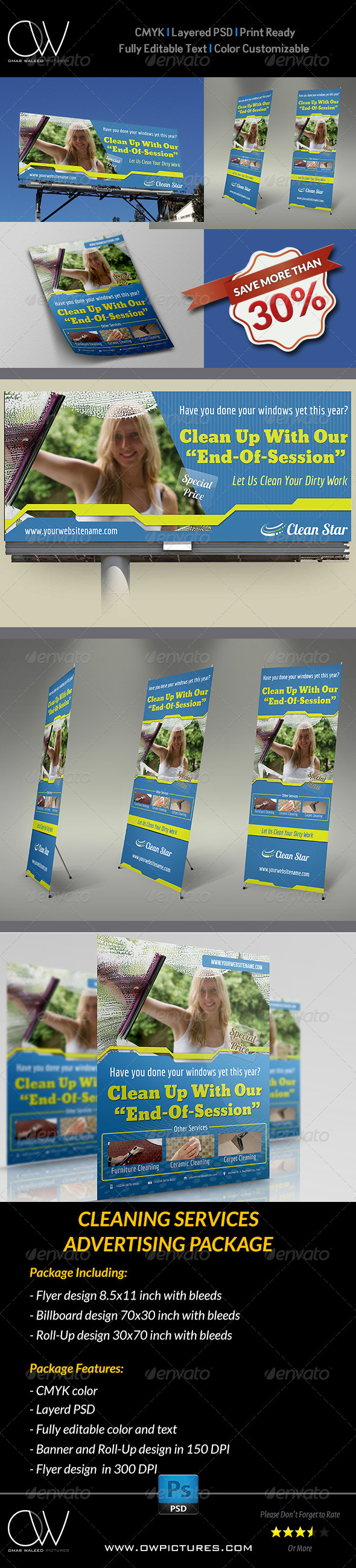 cleaning services advertising bundle advertising cleaning cleaning services advertising bundle signage print templates