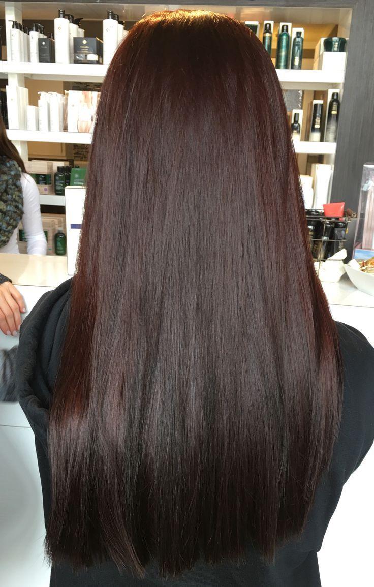 Deep Red Brown Hair Salon Studiobe Paul Mitchell Hair Color Burgundy Brunette Hair Color Deep Red Hair
