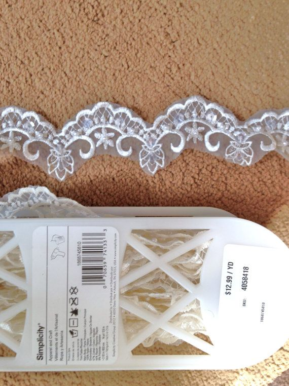 Bridal Lace Trim 12 Yards White Pearls by BrickCity on Etsy