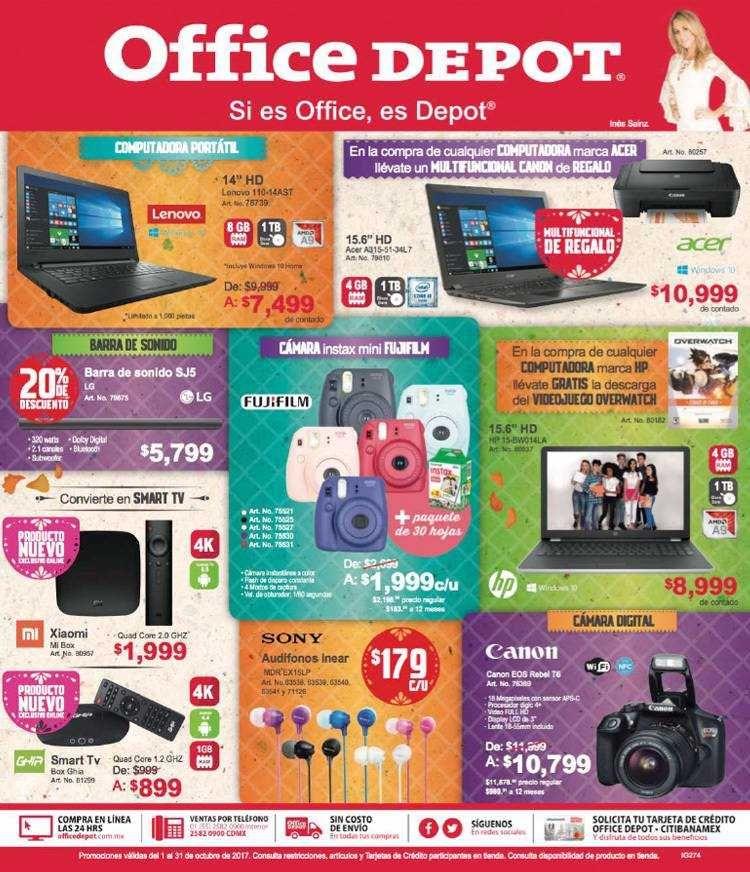 Office Depot Folleto de Ofertas y Promociones del 1 al 31