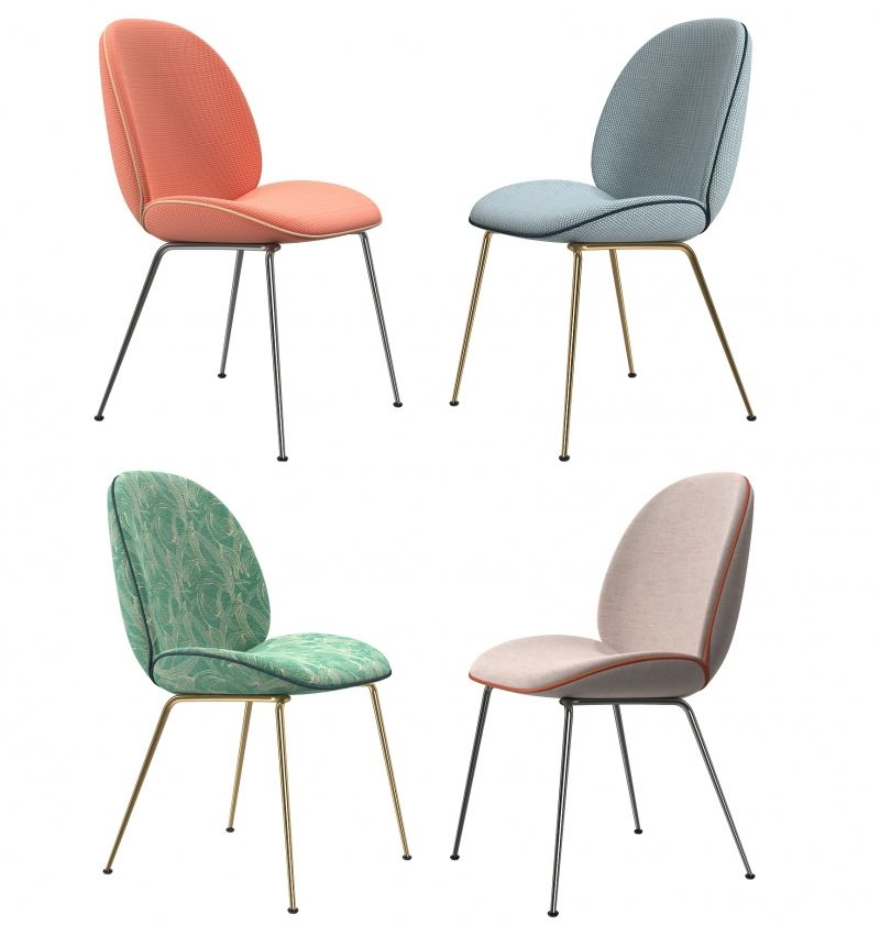 Gubi chaise beetle 3d model 3d furniture pinterest for Chaise gubi
