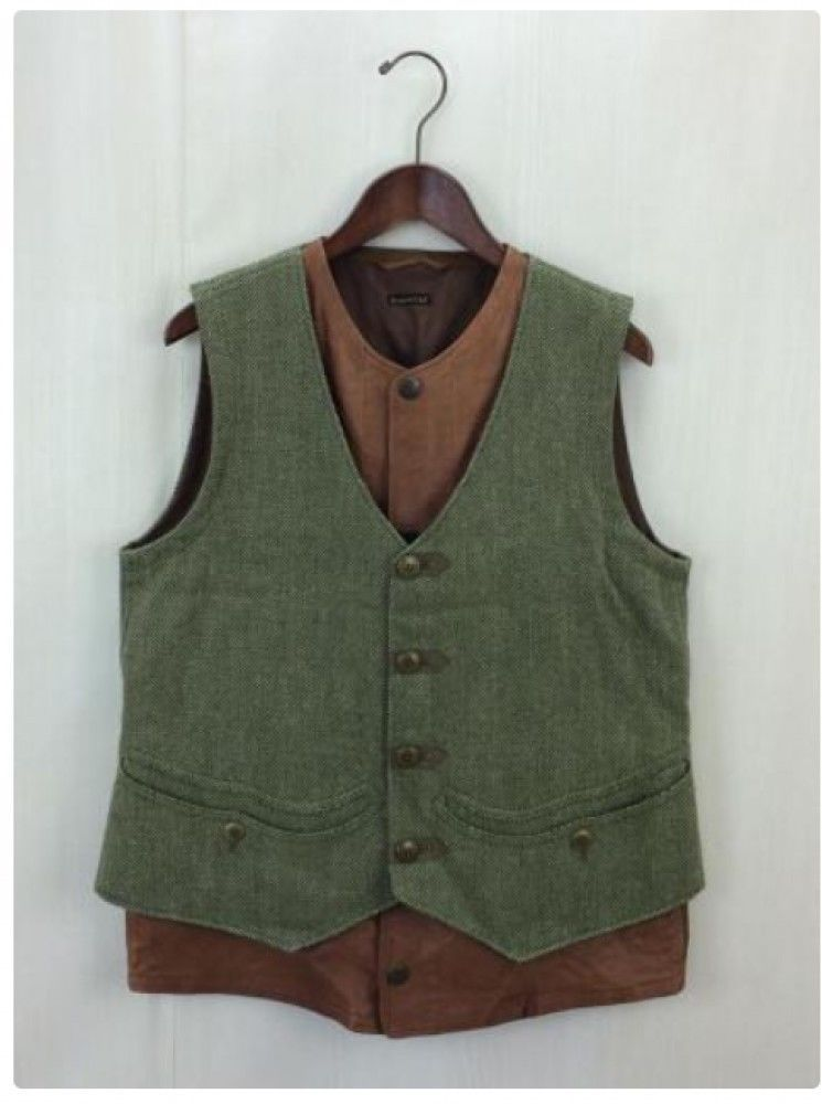 https   www.ebay.fr itm KAPITAL-Mens-vest-Herringbone-Linen-wool-Sheepskin-Leather-Khaki-Brown-Japan 263311972487 ssPageName STRK%3AMEBIDX%3AIT  tr… 4cd2e0695