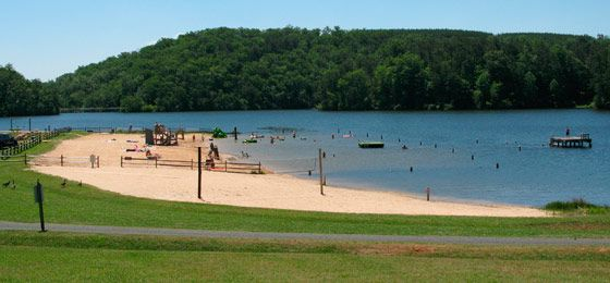 Holliday Lake State Park VA beach & lake campgrounds