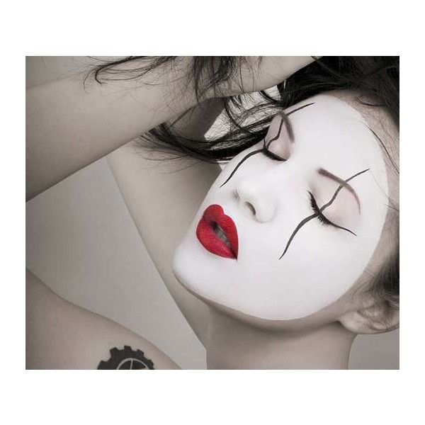 Mime-Faced Makeup - Lucie Kout Makes Heart-Stopping Art (GALLERY) found on Polyvore