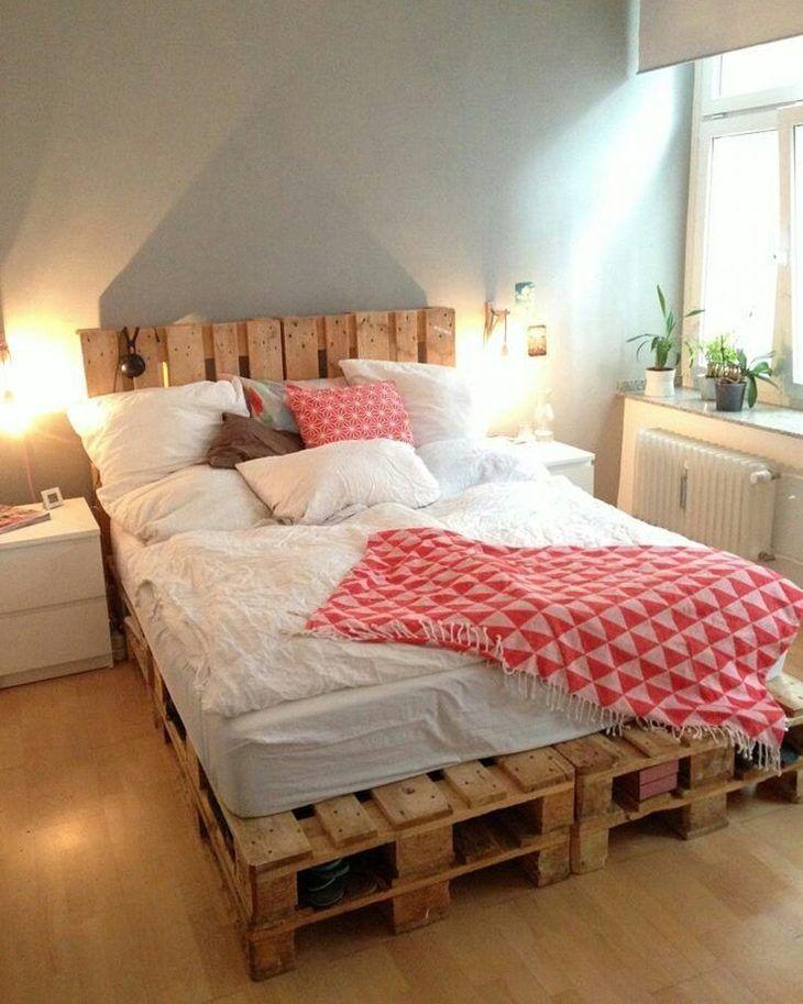cama de pallet 30 modelos lindos para te inspirar a fazer a sua diy beds beds beds. Black Bedroom Furniture Sets. Home Design Ideas