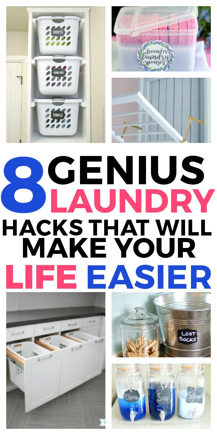 8 Genius Laundry Hacks that will Make Your Life Easier and more ...