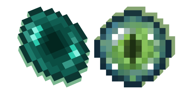 Minecraft Ender Pearl And Eye Of Ender Minecraft Pearls Kawaii Cute