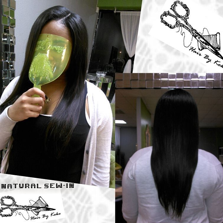 Traditional Sew In With Minimal Leave Out Side Part