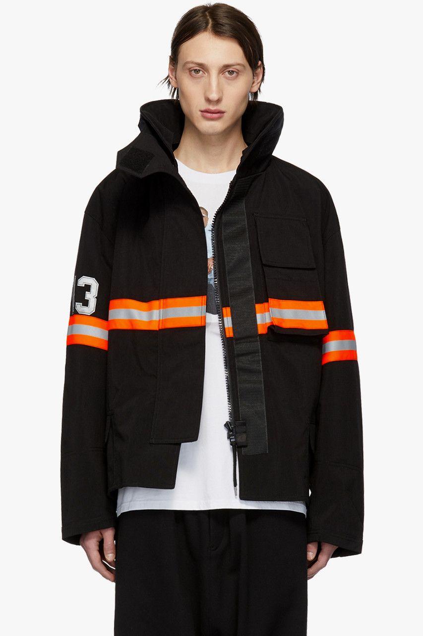 14ef30e865f3 R13 Fireman Jacket Black Orange Nylon Reflective Silver Beige Cream  Camouflage Green SSENSE Drop