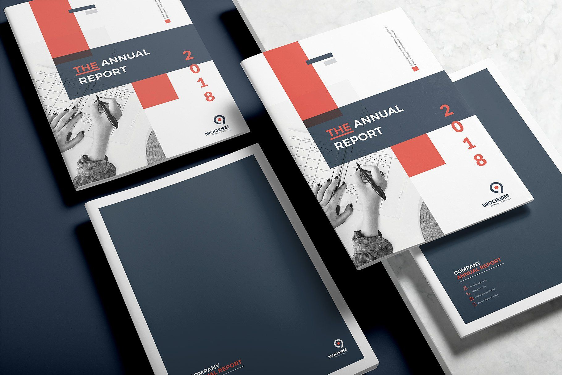 Annual Report 24 Pages Indesign Size Features Contents Business