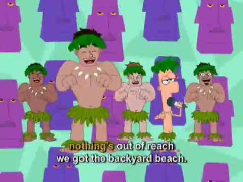Phineas And Ferb Backyard Beach Music Video With Lyrics Disney Channel