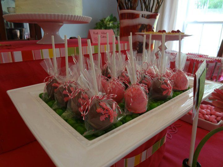 cake pops nashville wedding birthday party corporate fun cute display! jellybeans + ribbons