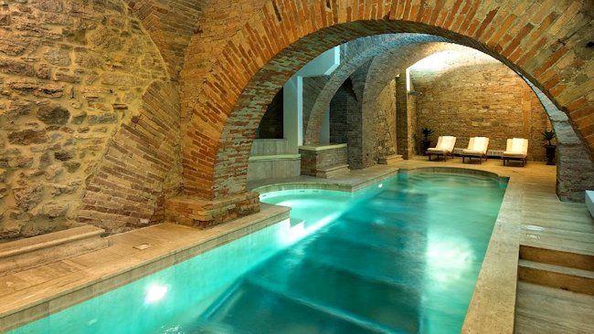 Cool underground swimming pool. | Luxury swimming pools ...