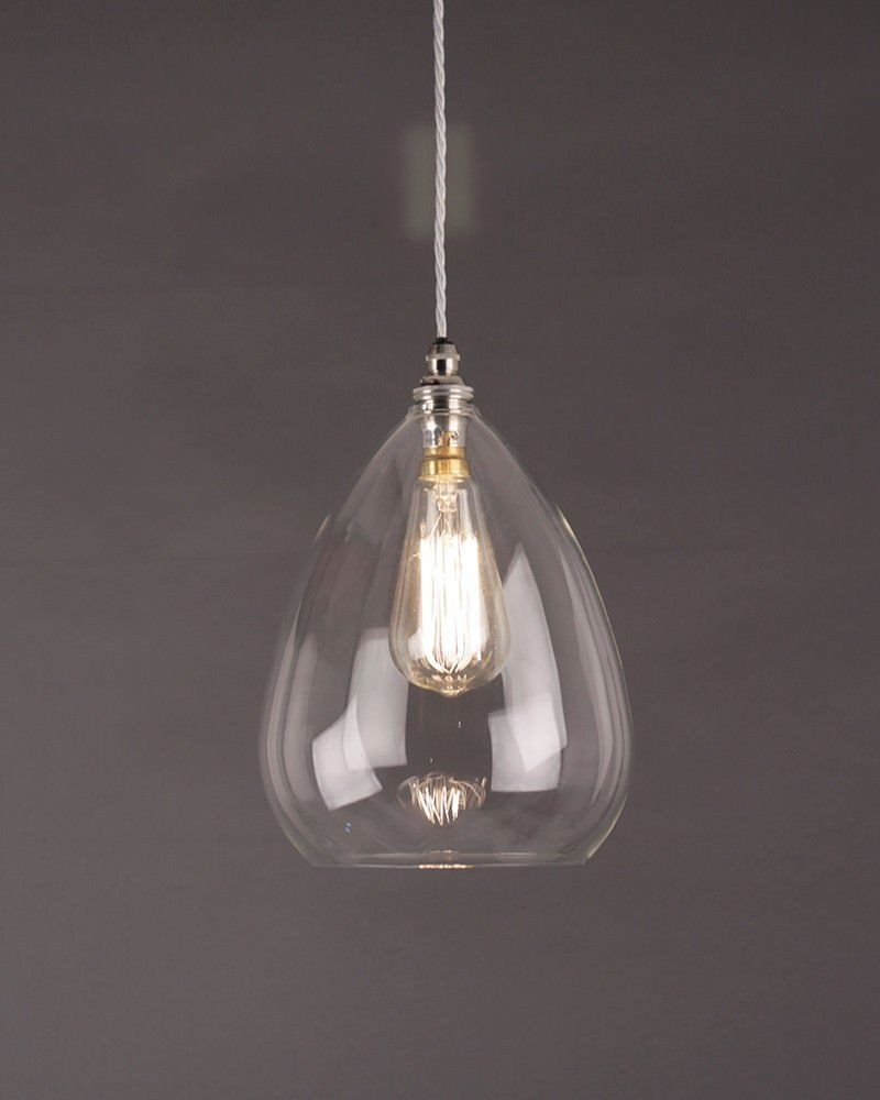 Wellington Clear Glass Pendant Light Glass Ceiling Pendant - Modern glass pendants kitchen