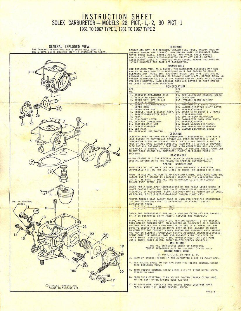 vw beetle solex carburetor beach buggy vw beetles vw engine ferdinand porsche  [ 825 x 1065 Pixel ]