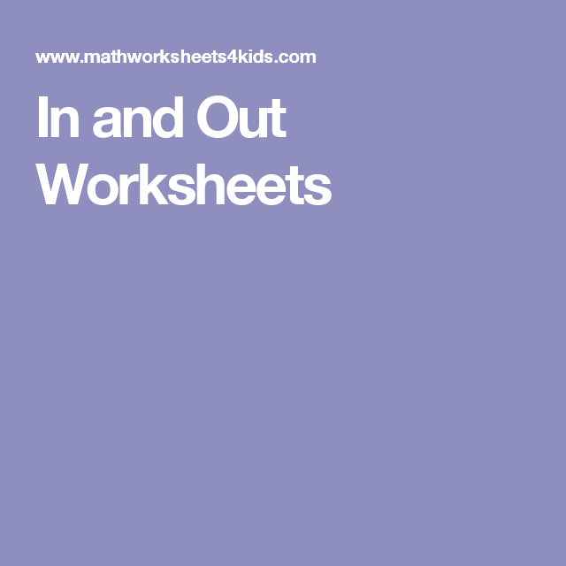 Finding The Main Idea Worksheets 4th Grade Excel In And Out Worksheets  Th Grade Math  Pinterest  Worksheets  Probability Of Compound Events Worksheet Answers Pdf with Figurative Vs Literal Language Worksheets Excel In And Out Worksheets Map Worksheets For Middle School