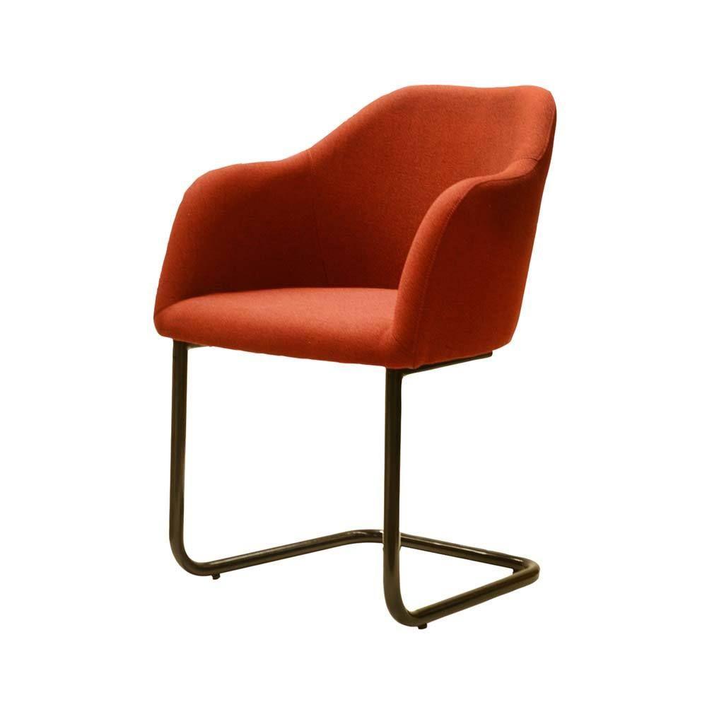 Armlehnen Schwingstuhl in Rot Schwarz Stoff Jetzt bestellen unter ...