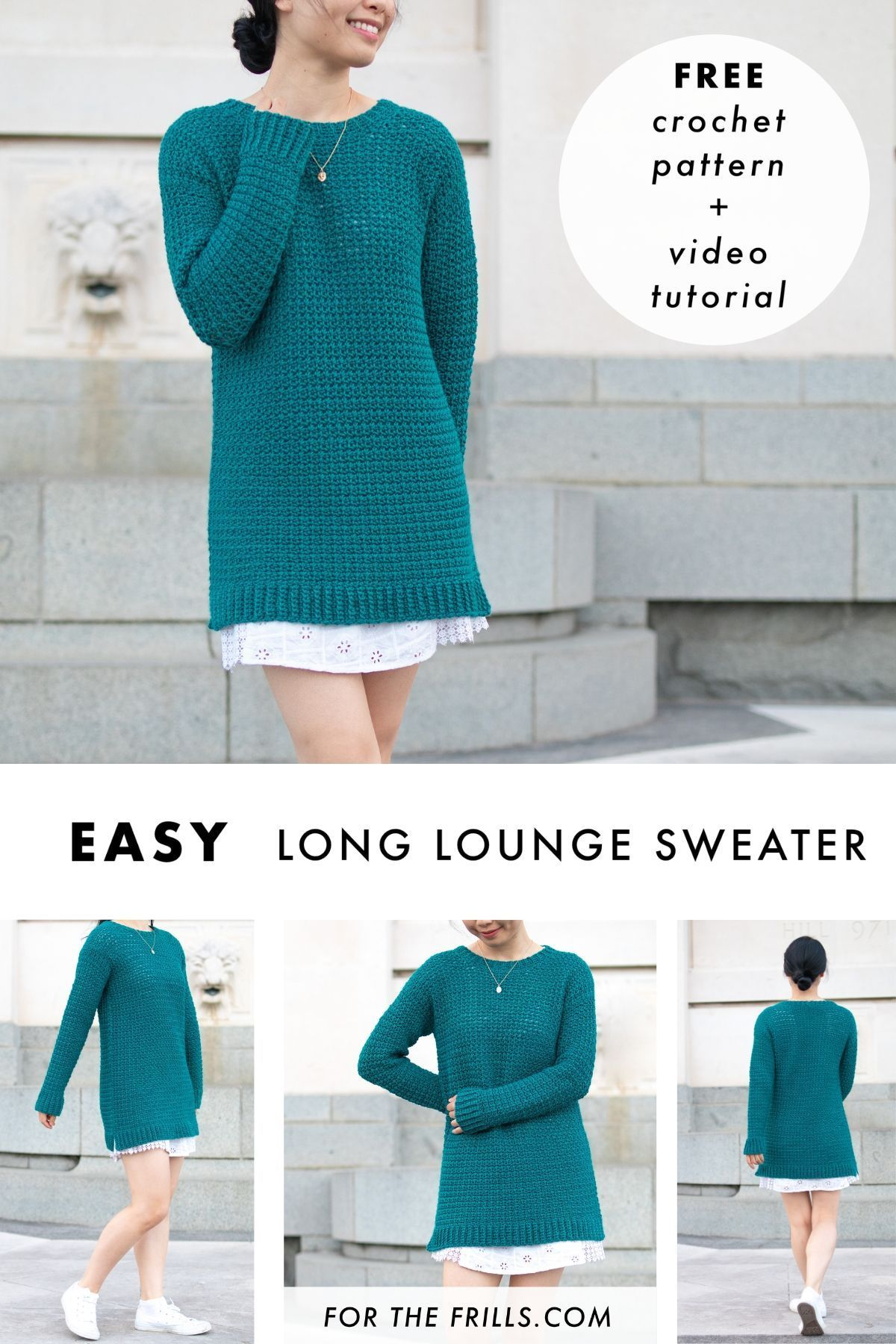 Cosy Easy Pullover – free crochet pattern + video tutorial