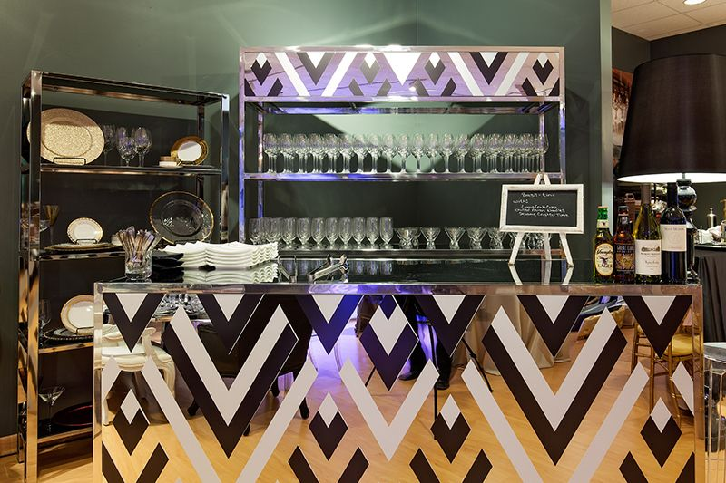 Cleveland showroom grand opening event bar bar mirror