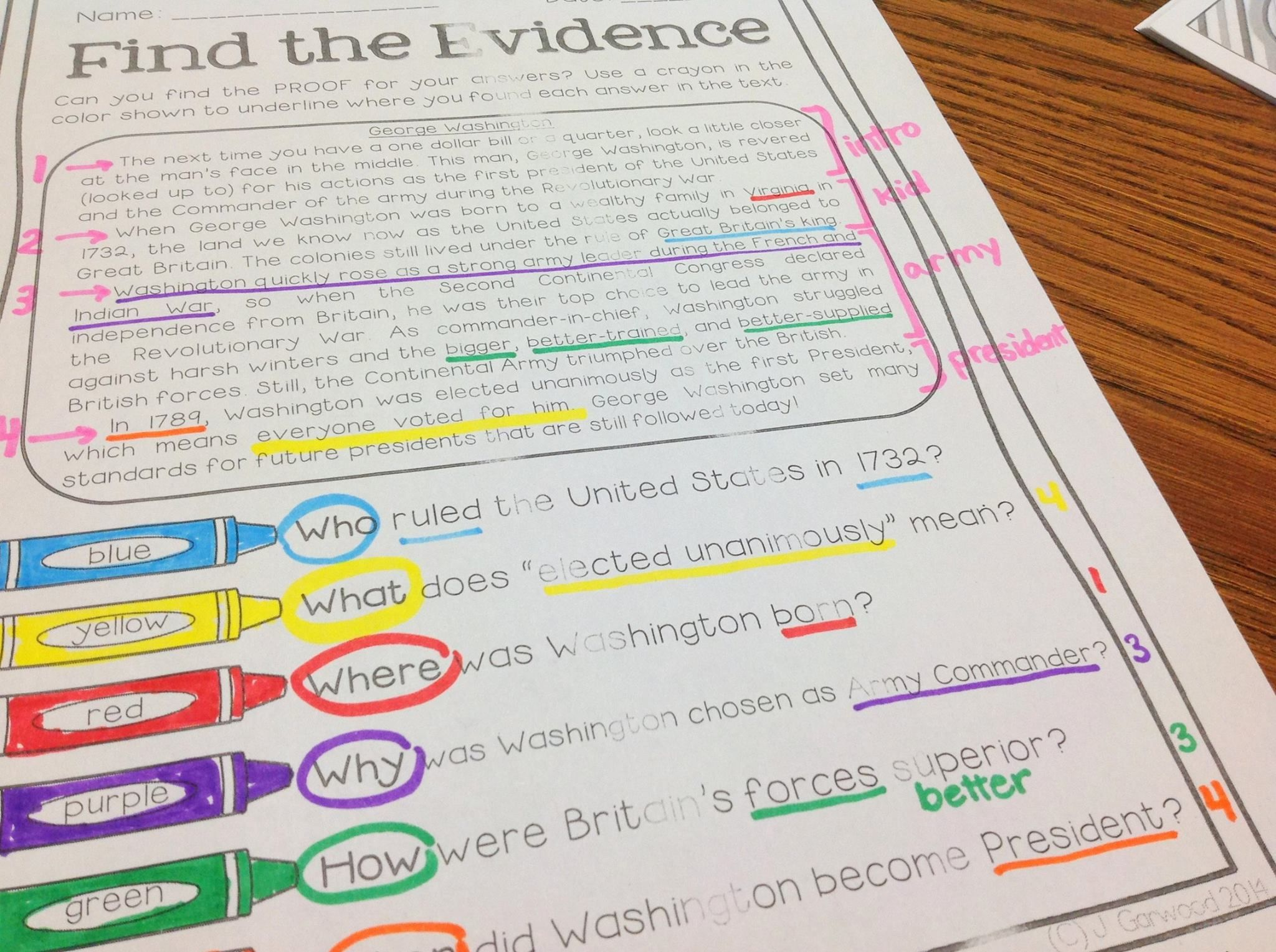 Text Detectives Find The Text Evidence April Edition