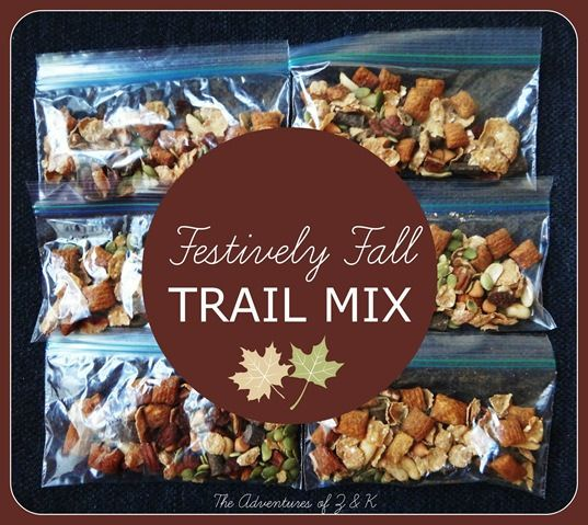 Festively Fall Trail Mix  The Adventures of Z and K