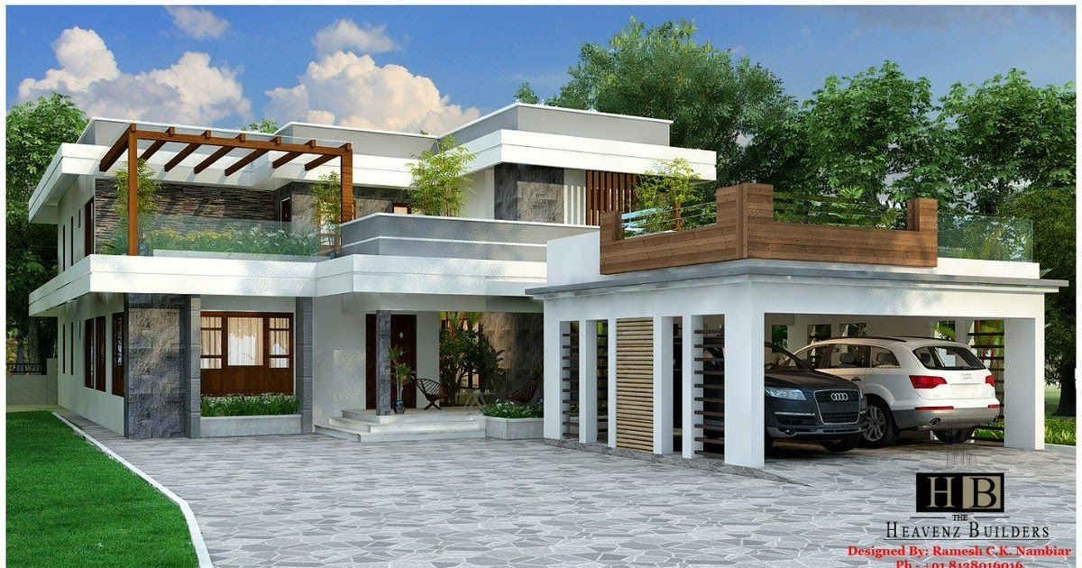 Keralamodelhomeplans Keralahomeplans Twitter Luxury Homes Designs Good 4 Bedroom Luxury Victo In 2020 Luxury House Designs Kerala House Design Minimalist House Design