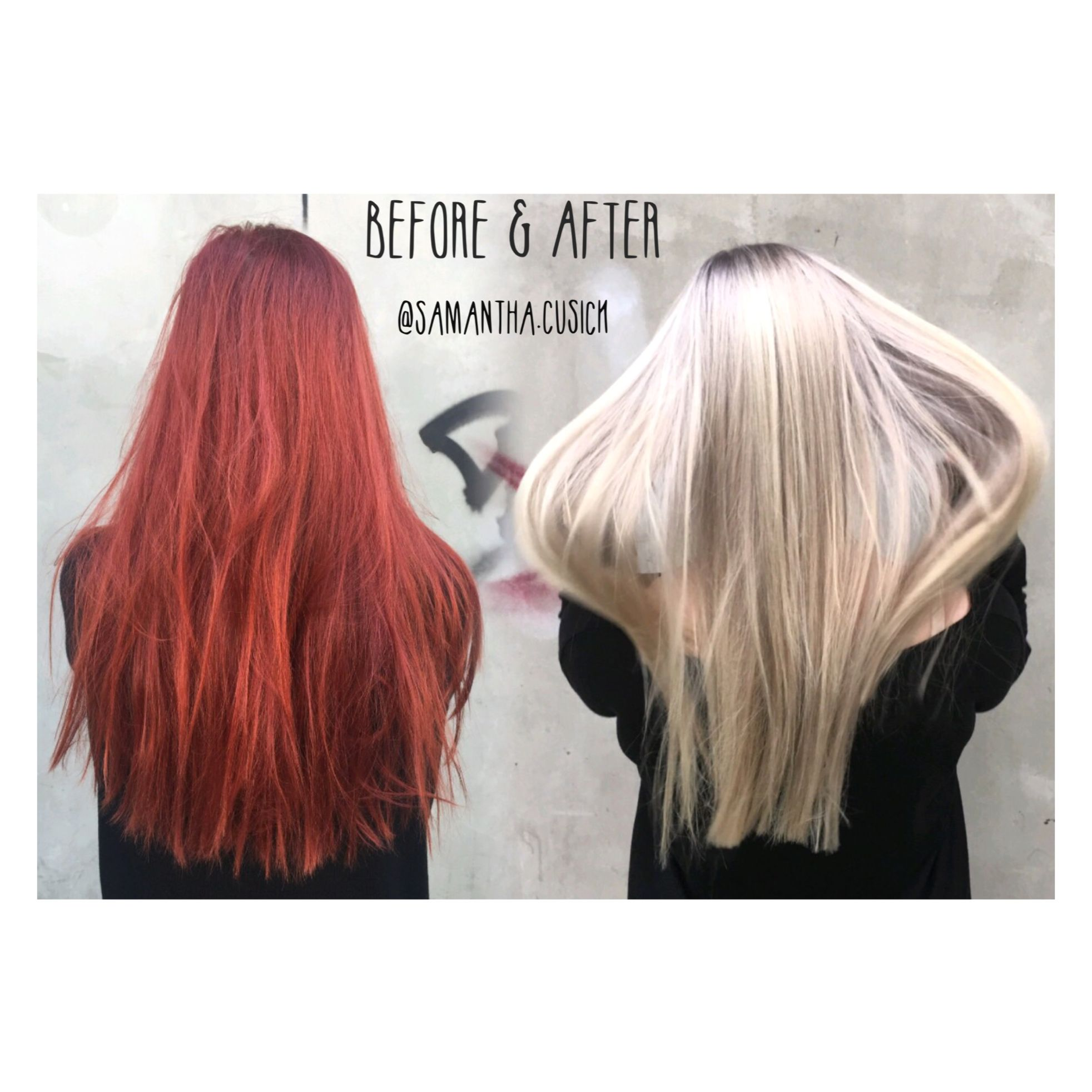 Colour Change Red to blonde hair • OLAPLEX • Color change