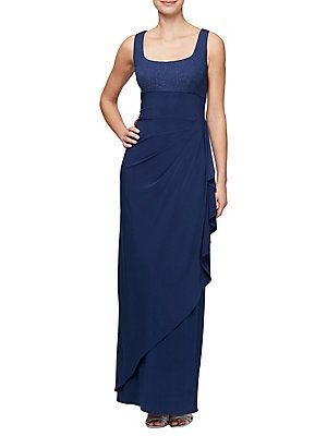 4cc441029e6aa Alex Evenings Two-Piece Empire Evening Gown and Bolero Alex Evenings, Lord  & Taylor