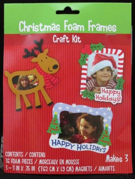 Christmas Foam Frames Craft Kit, Greenbrier International Inc., at ...