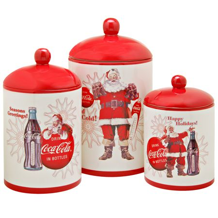 Coca Cola / Coke Holiday Collection Canister Set | Food ...