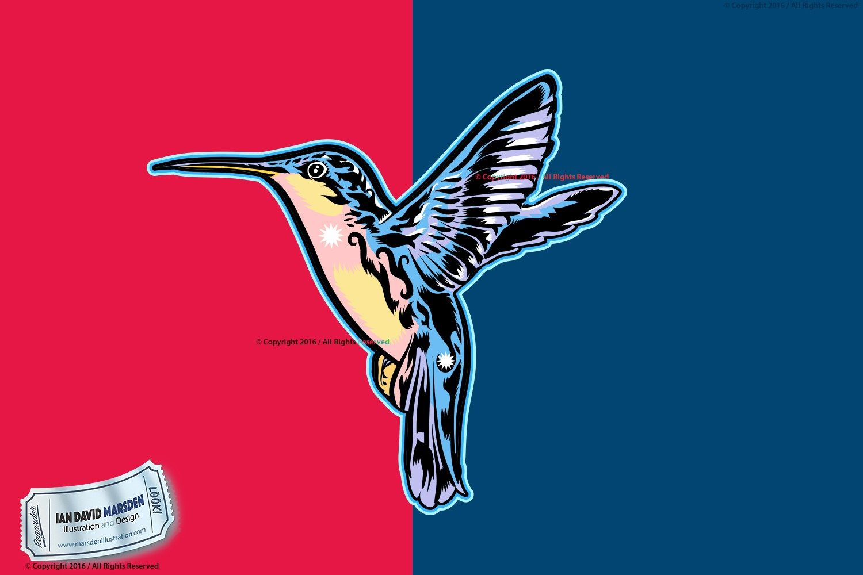 Hummingbird Vector Art in Adobe IllustratorCopyright