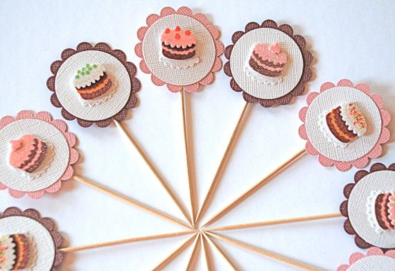 Sweet+Cake++Cupcake+Toppers+by+AForestFrolic+on+Etsy,+$10.00