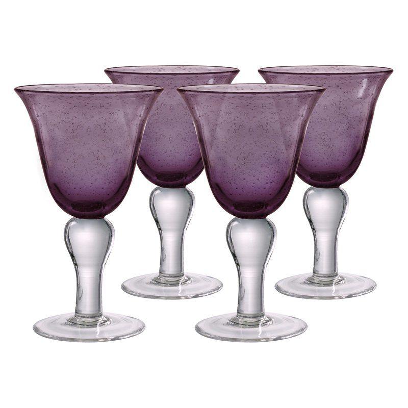Artland Iris Wine Glass - Set of 4 Plum - 50936B #thanksgivingtablesettings