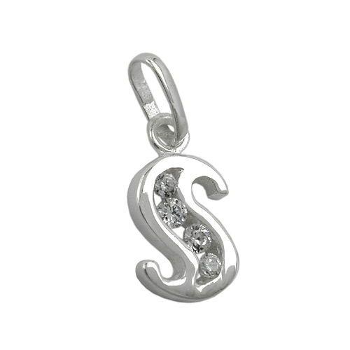 hängsmycke bokstav silver