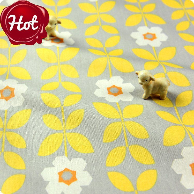 - Code: FQ1512-07- Colour: yellow & grey- Material: cotton- Sold by: pre-cut FQ (approx. 54x49cm)     ...