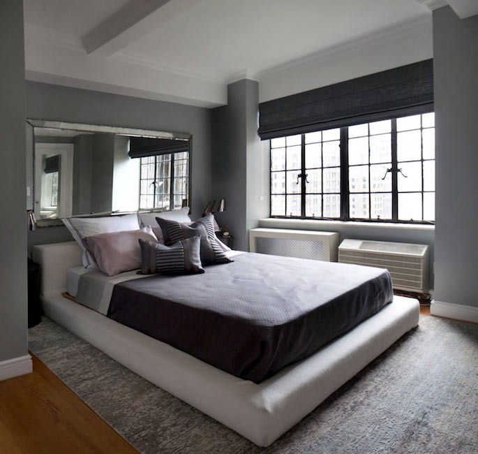 Luxury Bedroom Redesign With Mirror Over Bed Pinteres