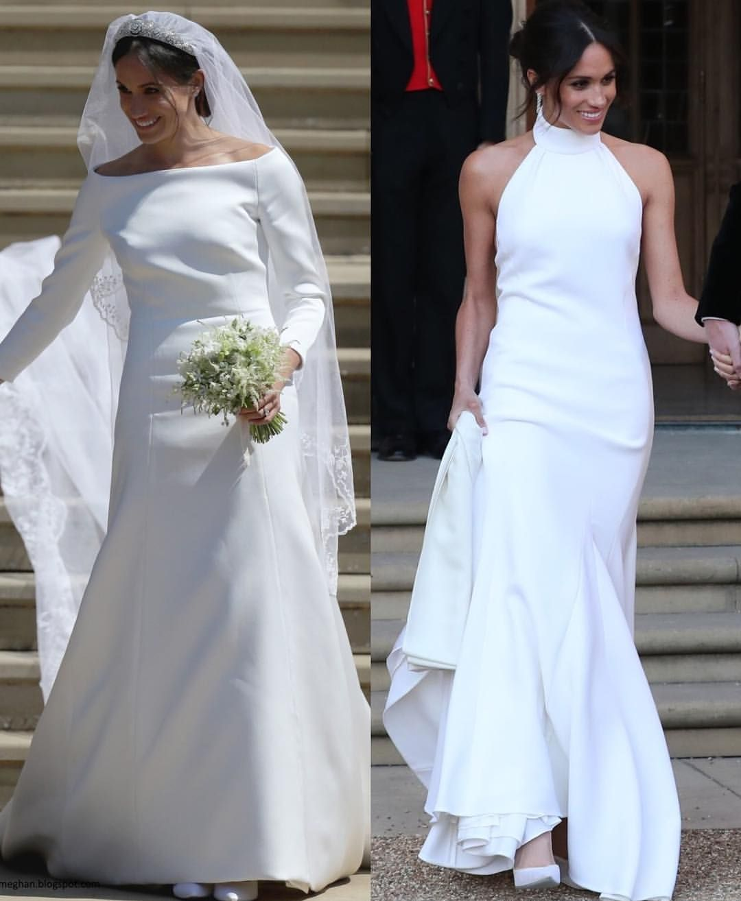 New Prince Harry And Meghan Markle S Wedding 19th May First Dress By Givenchy A Meghan Markle Wedding Dress Second Wedding Dresses Meghan Markle Wedding