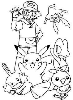Dibujos para imprimir y colorear de Pokemon para niños | Para