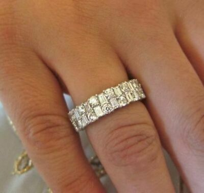 Details About Certified 2 20ct White Round And Baguette Moissanite