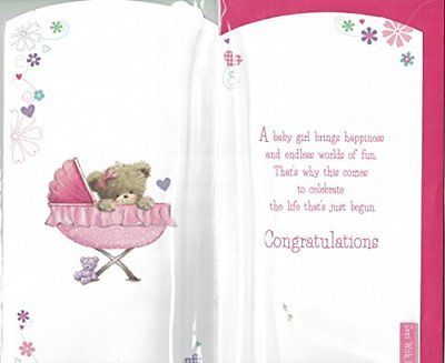 baby girl card congratulations on the birth of your precious daughter lovely
