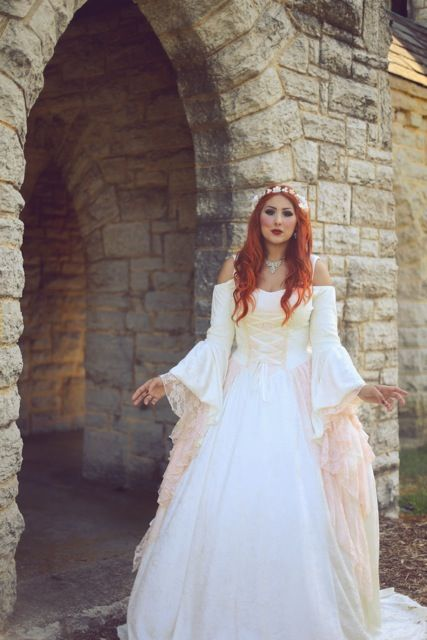1159b1c2f5e Soft Pink Ivory Gwendolyn Princess Medieval Wedding Gown new ...