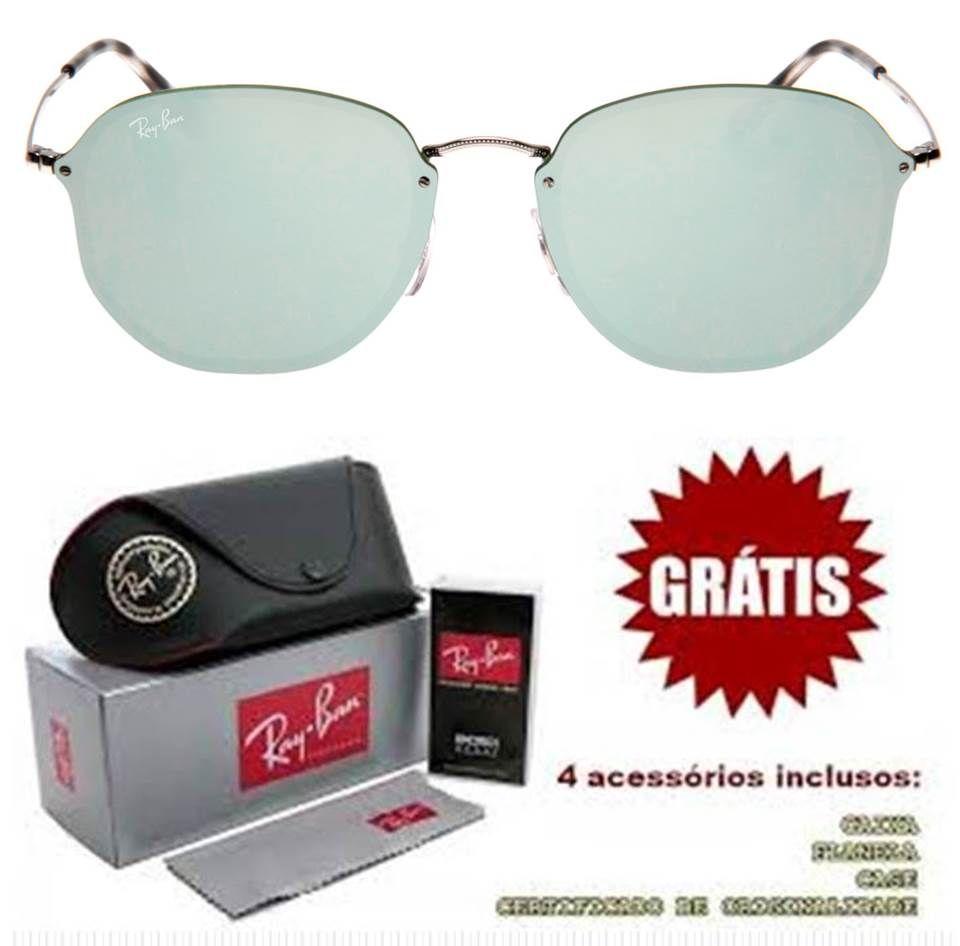 3704c2127428c Óculos Ray ban Hexagonal replica de primeira linha barato com kit completo