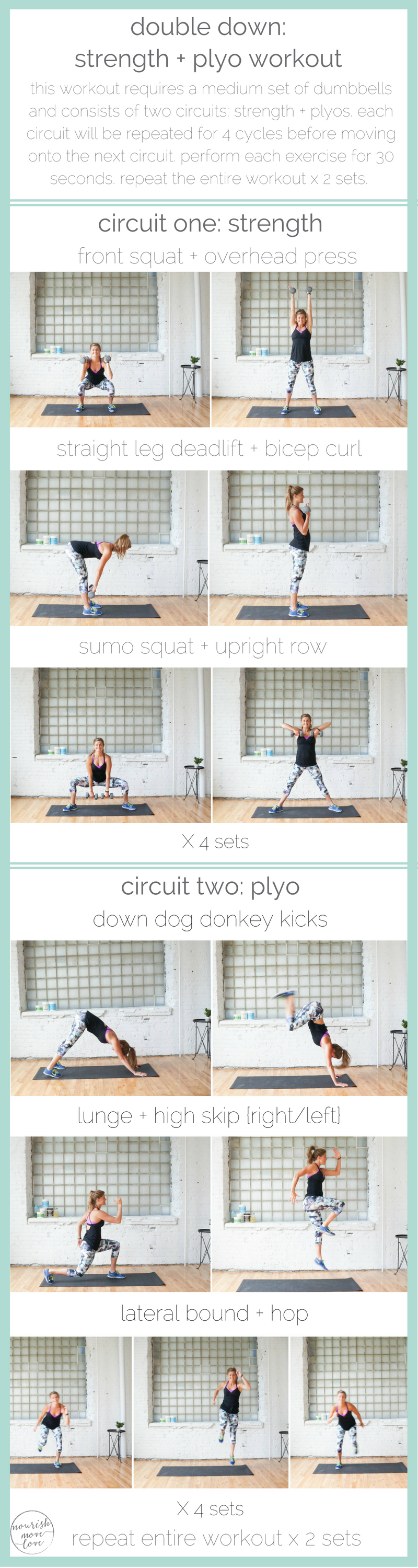 Double Down Strength Plyo Workout At Home Workouts Pinterest Superset Circuit Leg Up On Fitness Two Of The Most Powerful Forms Exercise Together In This Training Plyometric Effective Total Body 30