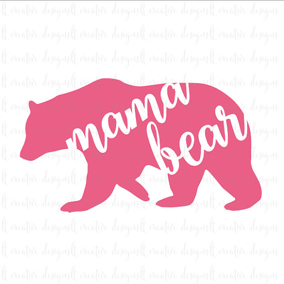 Mama bear svg mama bear svg file mothers day by ltcreativedesigns · yeti decalscar