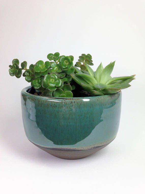 Succulent Planter Ceramic Planter Stoneware Planter Rustic Planter Flower Pot Pottery Planter Cactus Pot Drainage Hole Made To Order Rustic Planters Stoneware Planter Succulent Planter