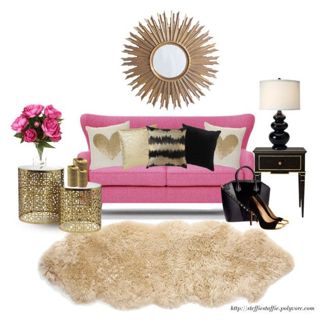 Girly Living Room: Black, Gold & Pink | Nate berkus, Black gold and ...