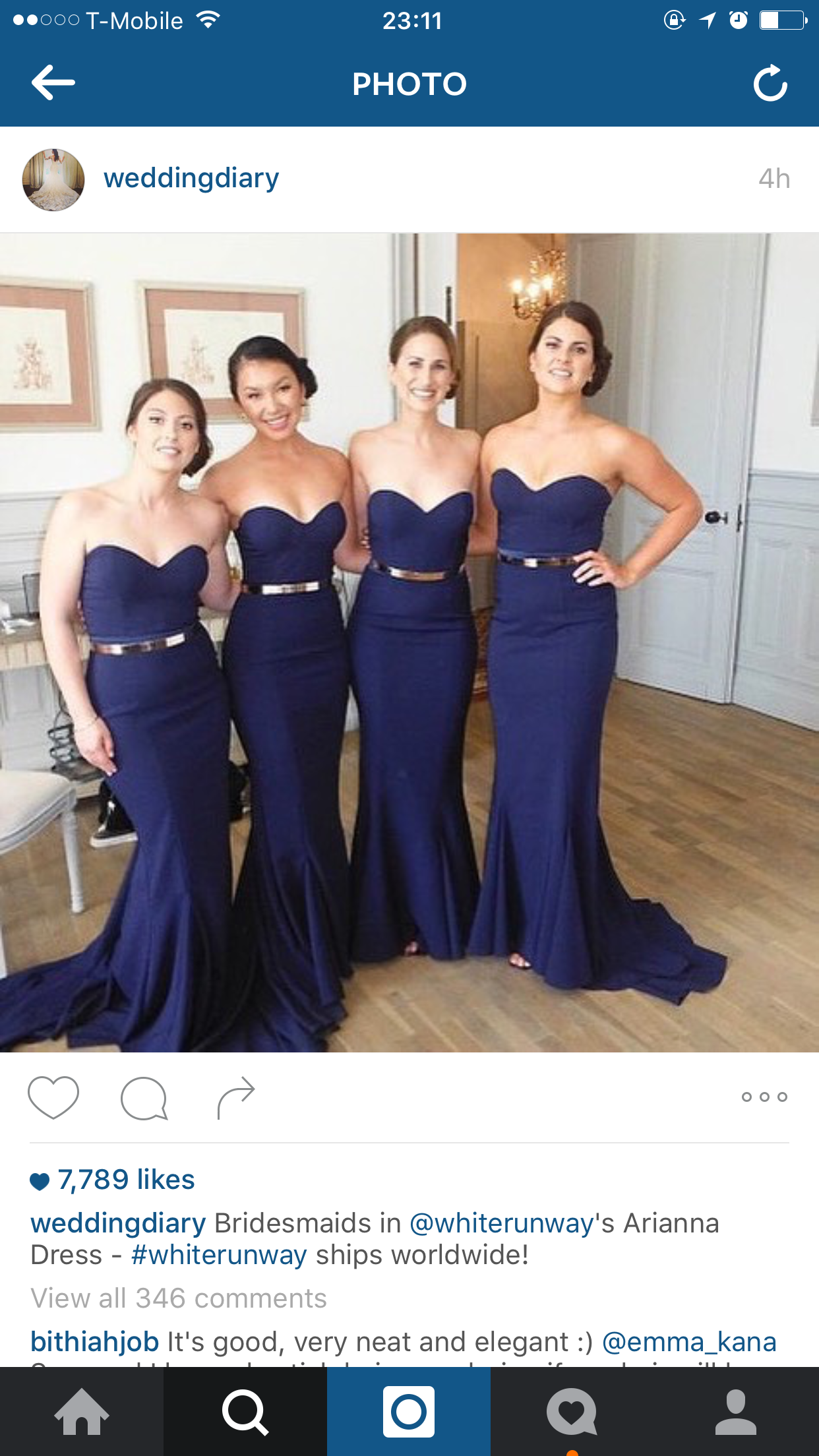 Sweetheart meamaid bridesmaid dressesfancy navy bridesmaid navy blue bridesmaids ombrellifo Gallery