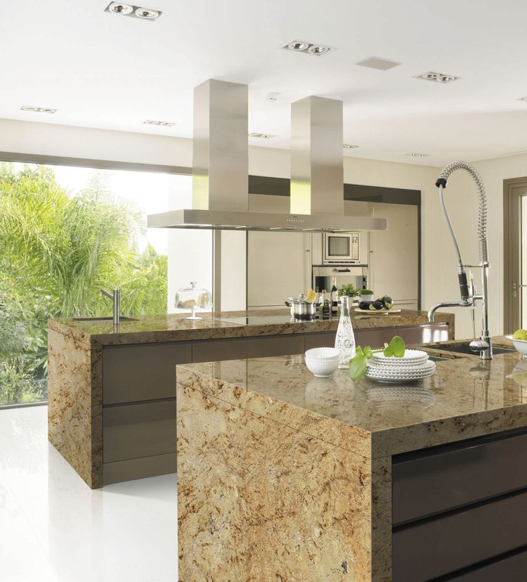 Countertop Granite In The Modern Kitchen Pros And Cons Moderne Kuche Granit Kuche Arbeitsplatte