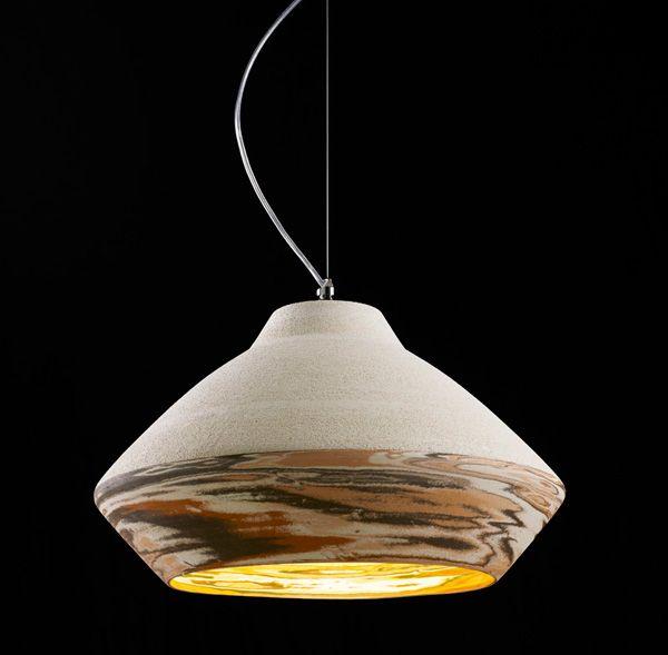 Matera rosa ceramic pendant by ilide cool lighting pinterest lights and yanko design - Unique handmade lamps ...