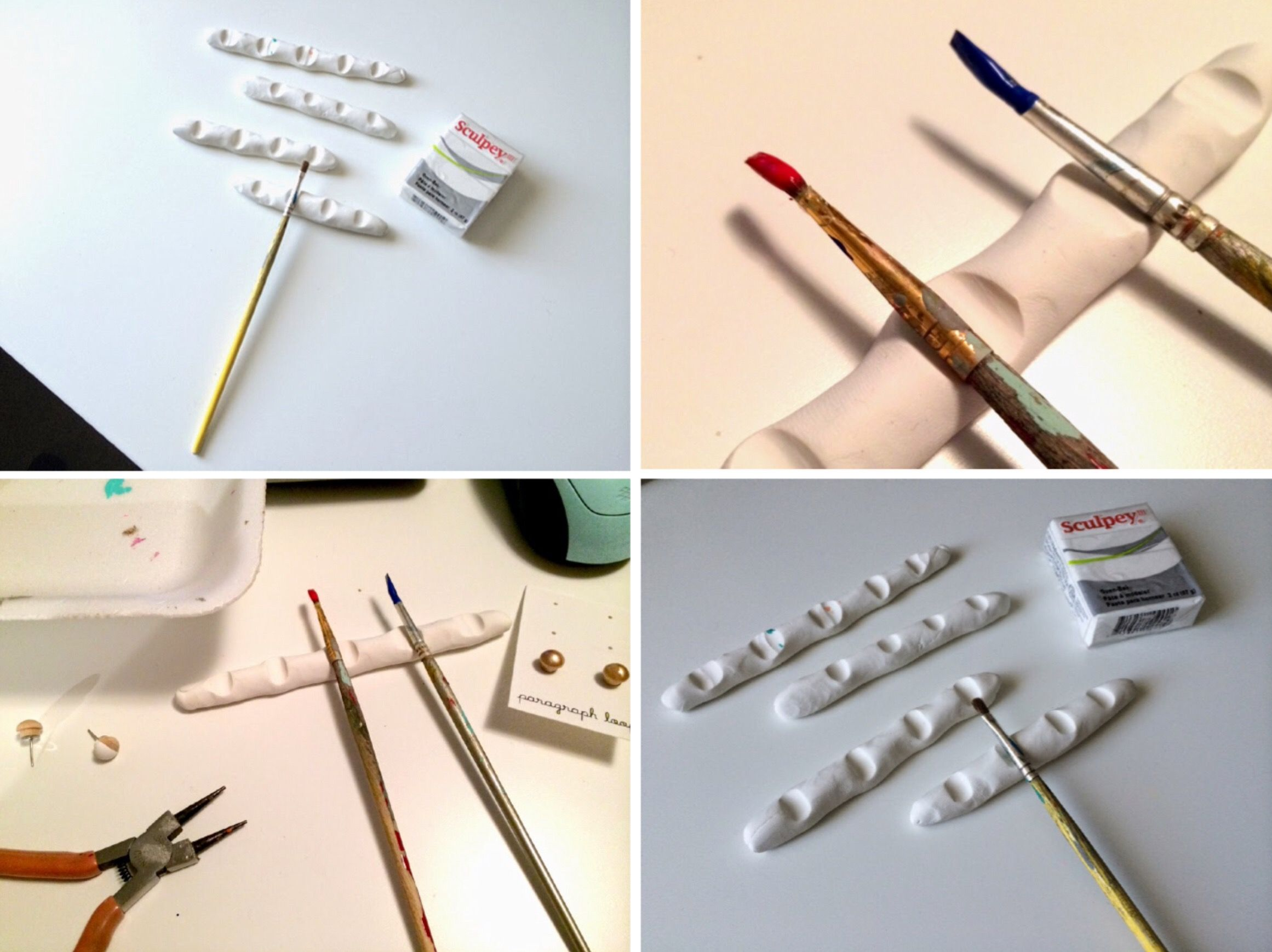 Tips Tricks Diy Paint Brush Rest Paint Brushes Air Brush